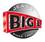 Stripe mand rond lila set van 2 - h38xd38cm